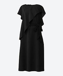 AKIRANAKA(Women)/アキラナカ Asymmetric ruffle dress BK