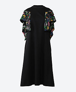 Anemone twist sleeves dress BK