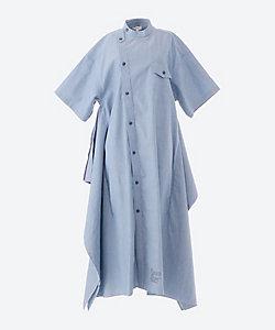 CHAMBRY GRANDAD-COLLAR SHORT-SLV DRESS
