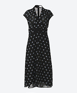 Mame Kurogouchi(Women)/マメ クロゴウチ 三越伊勢丹別注色 French Sleeve Dress With Small Flower Embroidery