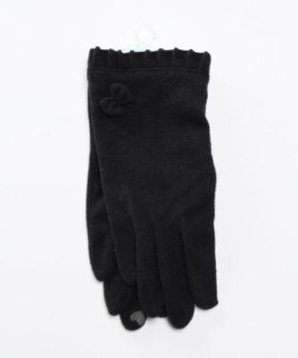 <joli comme un coeur/ジョリコムアンクール> フリルリボン手袋(タッチパネル対応) ネービーブルー<三越・伊勢丹/公式>