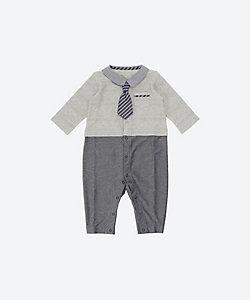 KISETTE(Baby&Kids)/キセット 天竺ネクタイカバーオール
