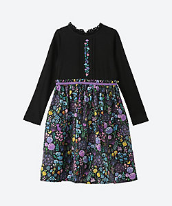 ANNA SUI MINI(Baby&Kids)/アナ スイ・ミニ 北欧風柄ドッキングワンピース