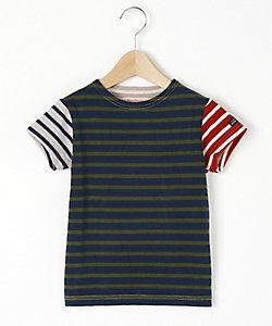 <DENIM DUNGAREE>ボーダー天竺Tシャツ(782434)