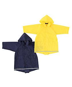 RAMUDA(Baby&Kids)/ラムダ (キッズ) スクールレインコート反射テープ付携帯袋付(フード取外しタイプ)