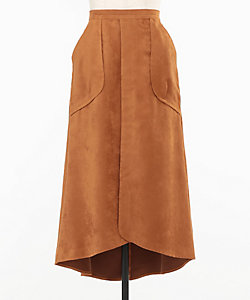 MW/エムダブリュー スエードポケットスカート