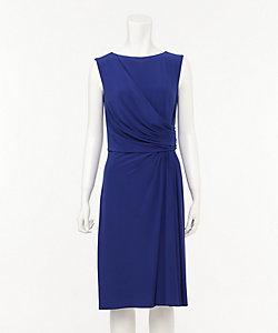 ノースリーブタイトミディアムドレス