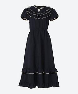 hira-hira Puff sleeve long dress
