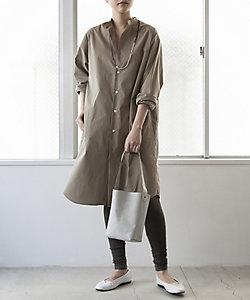 R(WOMEN)/アール コットンストレッチシャツドレス