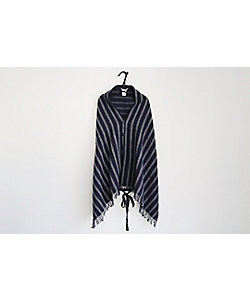 TOUJOURS/トゥジュー STRIPED SCOTCH TWEED CLOTH / Fringe Stole Vest