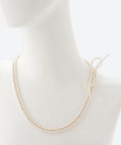 confetti(Women)/コンフェッティ リボンモチーフ付きロングネックレス