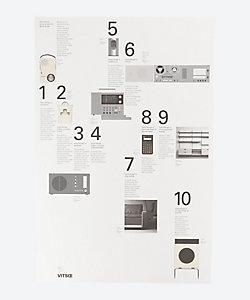 Vitsoe/ヴィツゥ Dieter Rams/10 Principles for Good Design ポスター