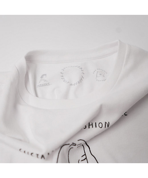 WALNUT Tシャツ(ホワイト)/サステナブル・ファッション・サークル