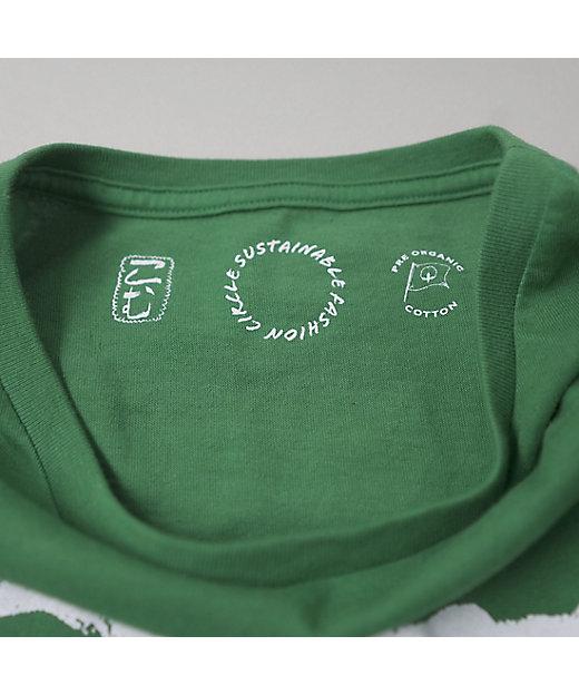 コムアイ Tシャツ(グリーン)/サステナブル・ファッション・サークル
