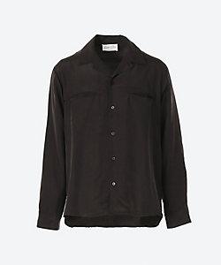 LOOK SEA(Men)/ルクシー シルク素材 スウェード加工 シャツ