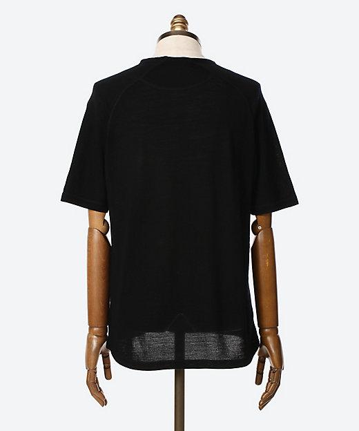 サマーウール 半袖クルーネックTシャツ