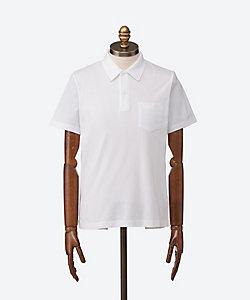 SUNSPEL(Men)/サンスペル 半袖無地織柄ポロシャツ