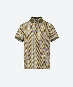 CAPOBIANCO(Men)/カポビアンコ 総柄ポロシャツ