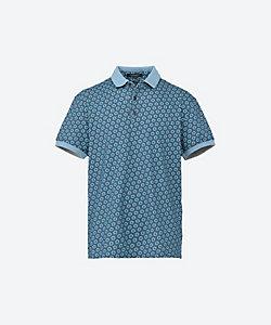 CAPOBIANCO(Men)/カポビアンコ ドット風総柄ポロシャツ