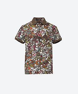 CAPOBIANCO(Men)/カポビアンコ 花柄ポロシャツ