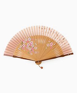 保赤軒/ホセッケン 【名入れ】扇子 舞桜ペンテ 3073 ピンク
