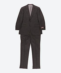 TIMOTHY EVEREST LONDON(Men)/ティモシーエベレスト ロンドン 【大きいサイズ】伊ルイジボット社製生地使用 グレーストライプ柄 スーツ
