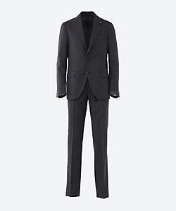 LARDINI(Men)/ラルディーニ メランジ シングル 3ボタン 1プリーツ スーツ