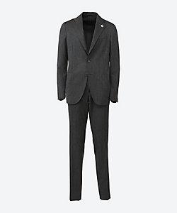 LARDINI(Men)/ラルディーニ イージーウェア ウールツイル ウエストゴム スーツ