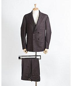 CARACCIOLO(Men)/カラッチョロ ダブル 4ボタン 1プリーツ スーツ