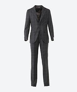 CARUSO(Men)/カルーゾ グレンプレイド シングル 3ボタン 1プリーツ スーツ