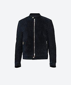 EMMETI(Men)/エンメティ スエード シングル ライダースジャケット ANDREA