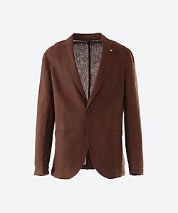 GIANNETTO(Men)/ジャンネット リネンソリッドシングルシャツジャケット