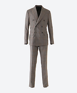 DE PETRILLO(Men)/デ・ペトリロ グレンチェック ダブル 6ボタン 1プリーツ スーツ