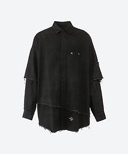 ALMOSTBLACK(Men)/オールモストブラック ロングシャツ 21SS 9 SH05
