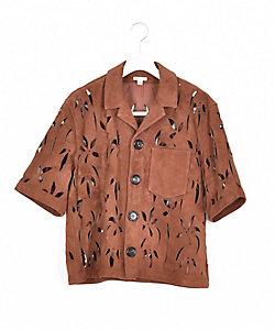 MASU(Men)/エムエーエスユー 半袖レザーシャツ 21SS 4 MFSS SH0521
