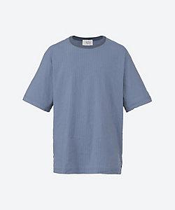 URU(Men)/ウル 半袖Tシャツ LINEN STRIPE CREW NECK S/S SHIRTS 21SLS03
