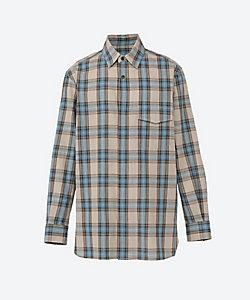 URU(Men)/ウル 長袖チェックシャツ COTTON RAMIE CHECK FLY FRONT L/S SHIRTS 21SCRC01