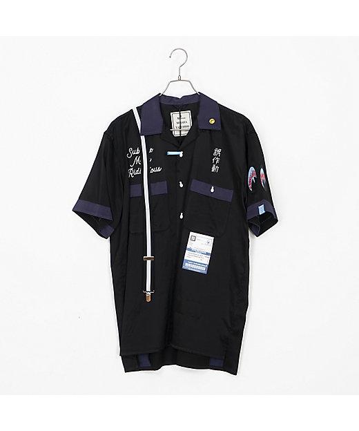 <MAISON MIHARA YASUHIRO(Men)/メゾン ミハラ ヤスヒロ> Suspender Bowling Shirts/サスペンダーボーリングシャツ A04SH161 BLACK【三越伊勢丹/公式】