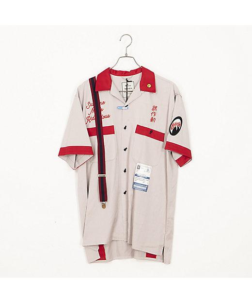 <MAISON MIHARA YASUHIRO(Men)/メゾン ミハラ ヤスヒロ> Suspender Bowling Shirts/サスペンダーボーリングシャツ A04SH161 GRAY【三越伊勢丹/公式】