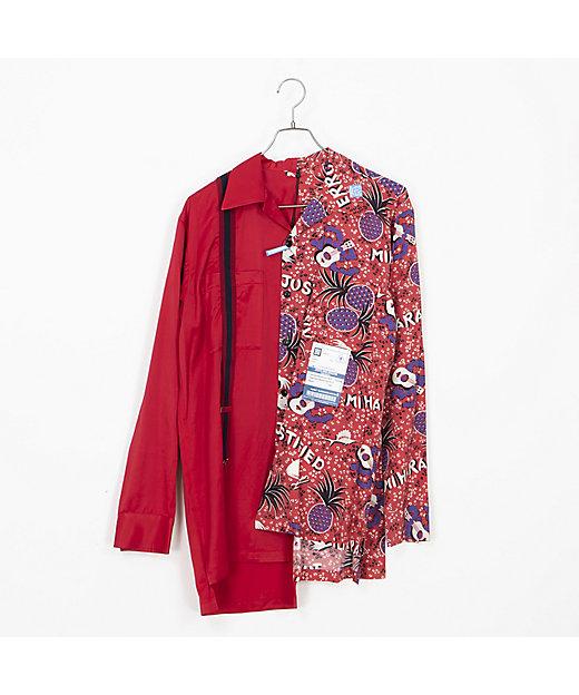 <MAISON MIHARA YASUHIRO(Men)/メゾン ミハラ ヤスヒロ> Suspender Mix Shirts/サスペンダーミックスシャツ A04SH162 RED【三越伊勢丹/公式】