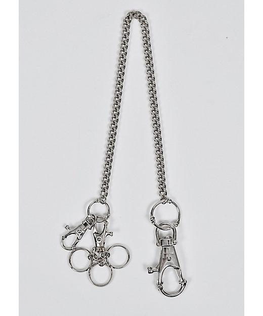 <TAKAHIROMIYASHITATheSoloist./タカヒロミヤシタザソロイスト.> ウォレットチェーン bone shaped ring loop hook chain. silver【三越伊勢丹/公式】