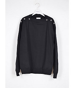 TAKAHIROMIYASHITATheSoloist./タカヒロミヤシタザソロイスト. スウェット shoulder buttoned boat neck sweatshirt.