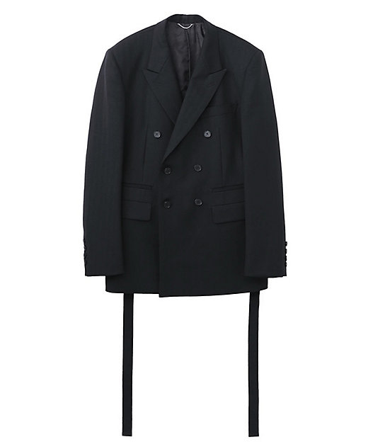 <JOHN LAWRENCE SULLIVAN(Men)/ジョン ローレンス サリバン> ジャケット SIDE BUTTON DOUBLE BREASTED JACKET BLACK【三越伊勢丹/公..