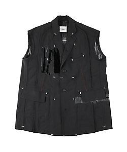 TAKAHIROMIYASHITATheSoloist./タカヒロミヤシタザソロイスト. ノースリーブジャケット sleeveless side back zip single breasted jacket?
