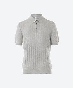 GRAN SASSO(Men)/グランサッソ 半袖ストライプ織ポロシャツ