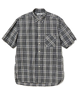 半袖チェックシャツ DWELLER B.D.SHIRT S/S RELAXED FIT L/C/P BROAD PLAID NN-S3721