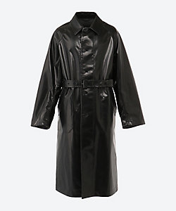 AURALEE(Men)/オーラリー ステンカラーコート WOOL CASHMERE LAMINETE COAT A20AC01WE