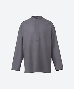Graphpaper(Men)/グラフペーパー プルオーバーシャツ Wool Flannel Band Collar Shirt GM203 50091