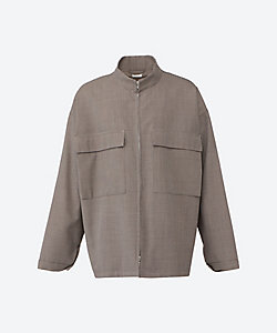 SEEALL(Men)/シーオール ブルゾン SAM01 SH181 ZIP UP HIGH NECK SHIRTS BLOUSON