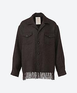 Text(Men)/テクスト シャツジャケット Alpaca Stole Cloth Fringe Shirts T20C 03SH01C